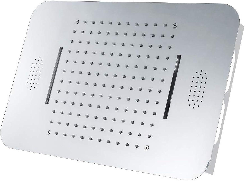 XSGDMN LED-Duschkopf feststehend, 22 in groen, Grünckten Duschkpfen, Musik-Duschkopf mit Regendusche mit 2 Strahlarten, Hochdruck, Leicht zu reinigen und zu installieren,A
