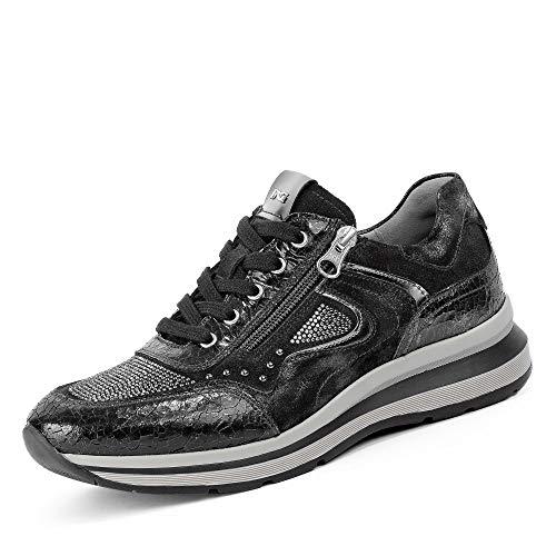Nero Giardini NeroGiardini A908880D 100 Monet Damen Sneaker Glattleder Lederinnenaustattung, Groesse 41, schwarz