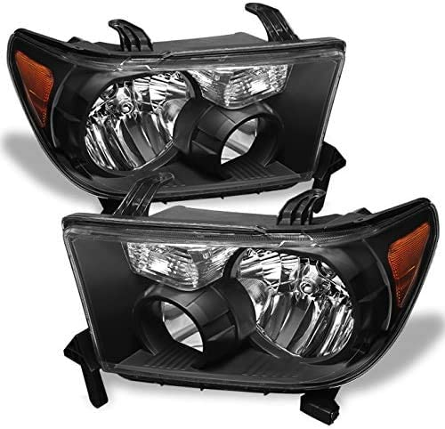 lowest SHAREWIN Replacement For Tundra 2007 2008 2009 2010 2011 Headlights Headlamp discount Assembly Black Housing 2021 Amber Reflector Replacement Passenger and Driver Side online