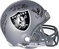 Fred Biletnikoff, Marcus Allen, Jim Plunkett Las Vegas Raiders Autographed Riddell Authentic Helmet with Multiple SB MVP Inscriptions - Fanatics Authentic Certified