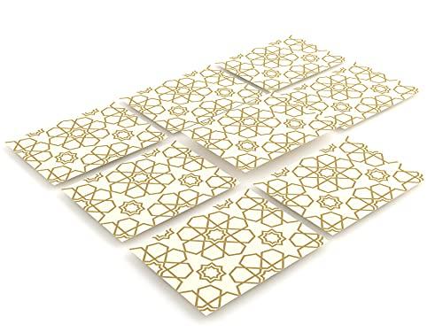 Tink Adhesivos para azulejos | Azulejos adhesivos para cocina y baño para suelos, escaleras y superficies de madera | Grosor óptimo de lámina de 0,5 mm (Selcuk, 15 x 20 cm // 8 unidades)