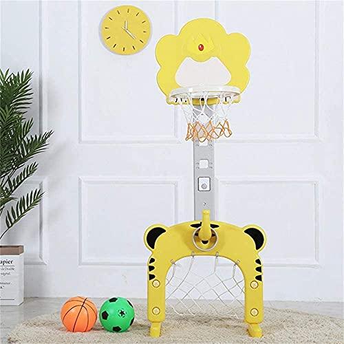 Aro de baloncesto 2 en 1 Niño Baloncesto Hoop Altura Ajustable 90-160 CM Interior Al Aire Libre Niños Soporte de baloncesto durante 3 años y hasta el bebé Sports Baby Sports 2 Colores Opcional, Color: