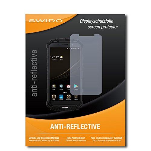 SWIDO Schutzfolie für Doogee S60 [2 Stück] Anti-Reflex MATT Entspiegelnd, Hoher Festigkeitgrad, Schutz vor Kratzer/Bildschirmschutz, Bildschirmschutzfolie, Panzerglas-Folie