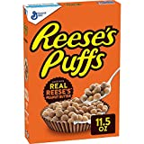 Reese's Peanut Butter Puffs, Breakfast Cereal, 11.5 Ounce (3 Pack...