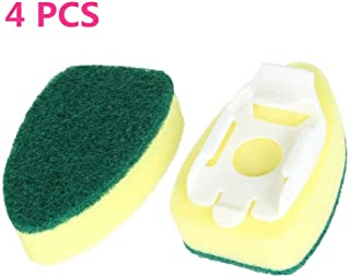 Picowe 8Pack Dishwand Refill Replacement Heads Sponge Brush Dish Scouring Scrubber Pads Heavy Duty Dish Wand Sponge for Kitchen Sink Cleaning 8 Pack