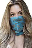 Microfiber Bandana Cotton Face Mask Neck Gaiter for Festival Made in USA -1 Layer - Daisy,One Size