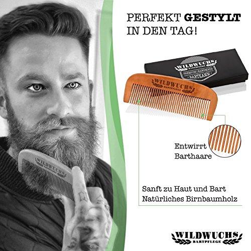 Wildwuchs Bartpflege, Kulturbeutel mit Bartoel, Bartbuerste, Bartkamm, Bartwachs Abbildung 2