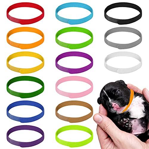 tonyg-p 15 Stück Welpen ID Halsbänder, Einstellbar Soft Welpen Kitten Halsbänder für Neugeborene Welpen Kätzchen