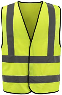 12 Colors Optional Reflective Vest High Visibility hi viz vis Executive Waistcoat(XS-8XL)