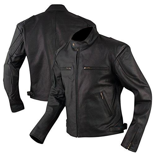 Bikers Blouson Veste Moto Cuir Custom Motard Vetements Superbe Neuf noir 3XL