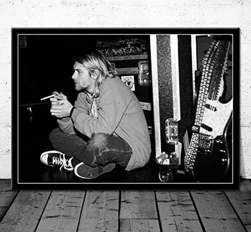 QINGRENJIE Cartel Arte Kurt Cobain Nirvana