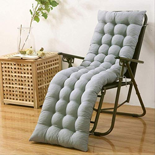 tonywu Removable Garden Recliner Cushion, Rocking Chair Cushion Outdoor Patio Thick Sun Seat, For Patio Garden Bench Or Swing 40x110 Light Grey