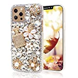 Semlos for iPhone 12 Pro Max Bling Glitter Case, Women 3D Luxury Sparkle Diamond Rhinestone, Shiny Perfume Bottle Style Handmade Clear Cover Case for iPhone 12 Pro Max 6.7 inch