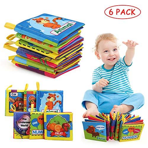 LinStyle Libros Blandos para Bebé, Libro de Tela Bebé, Libro Activity Tejido...