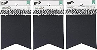 DIY Shop Chalkboard Notch Banner by American Crafts   24-piece   Includes string (3 Pack)