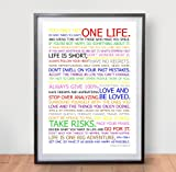 LIFE MANIFESTO POSTER - In Colour - Motivational Quote Wall