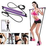 Artoflifer Exercise Resistance Band Yoga Pilates Bar Kit Portable Pilates Stick Muscle Toning Bar...