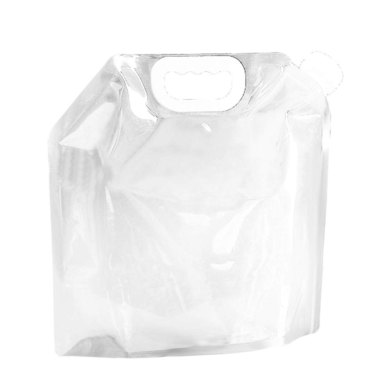 引き受けるフロント供給ウォーターバッグ 避難防災グッズ ウォータータンク 折りたたみ式 ポータブル 非常用給水袋 5L/10L水袋 コンパクト 持ち運びに便利 安全 (10L,透明)