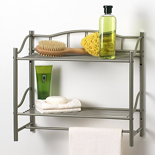 Creative Bath 20063-NI Products Complete Collection 2 Shelf Wall Organizer with...