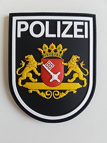 ATG Ärmelabzeichen Polizei Bremen 3 D Rubber Patch (Farbig)