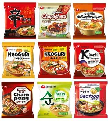 40x Nong Shim Instant Nudelsuppen Mix 9 Sorten zur Auswahl