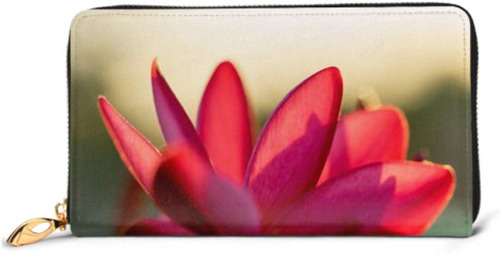 Fashion Handbag Zipper Wallet Oleander Flower Sunlight Nature Background Concept Phone Clutch Purse Evening Clutch Blocking Leather Wallet Multi Ca