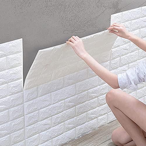 10 Piezas De Película Decorativa Autoadhesiva, Papel Tapiz Autoadhesivo 3D, Adhesivo De Pared Impermeable Papel Tapiz De Ladrillo, Papel Tapiz Mural De Espuma Para Dormitorio, Sala De Estar, TV