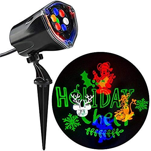 Gemmy Mickey and Friends Fantastic Flurry Silhouette LED Projection Spotlight Indoor/Outdoor Decoration