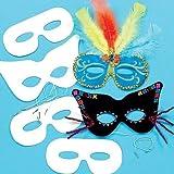 Baker Ross Masques à personnaliser (lot de 12) - Matériel créatif pour enfants et adultes