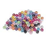 Homyl 100 peças de resina redonda contas soltas para fazer joias artesanato de miçangas DIY colar pulseira suprimentos 8 mm