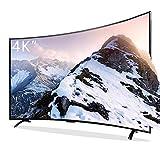 Téléviseur Intelligent de réseau WiFi incurvé de 32/42/50/55/65 Pouces, TV 4K UHD HDR TV LED à écran Plat Ultra-Mince, Port USB/HDMI/AV/VGA/réseau/RF -Fréquence de rafraîchissement 60Hz