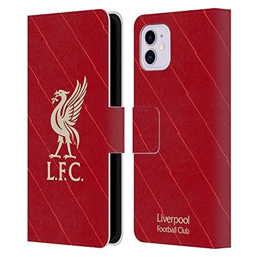 Head Case Designs Licenciado Oficialmente Liverpool Football Club Home 2021/22 Carcasa de Cuero Tipo Libro Compatible con Apple iPhone 11