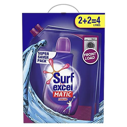Surf Excel Matic Liquid Detergent Front Load 2+2 ltr Carton