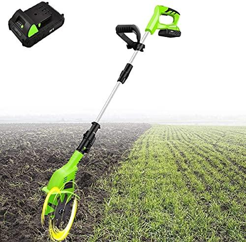 HPDOM Motorhacke Schnurlose Elektrische Gartenfräse Mit Wiederaufladbarem 5200-Mah-Akku Und Ladegerät, Kreiselfräse, Lithium-Feldgrubber, Bodenbearbeitungsmaschine