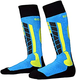 Winter Ski Socks,Kids Snowboard Warm Hiking Knee Socks Over The Calf OTC High Performance for Girls and Boys