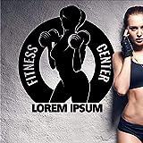 Gym Hanteln Sehr Ring Aufkleber Mädchen Fitness Aufkleber Bodybuilding Poster Vinyl Wandtattoos...
