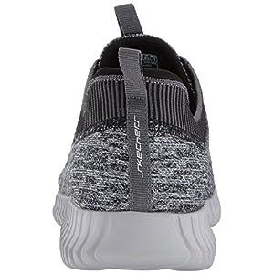 Skechers mens Elite Flex Hartnell Fashion Sneaker, Gray/Black, 10.5 US