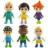 BESTZY Cocomelon Figuras en Miniatura 6PCS Cocomelon Figure Toy Entre Nosotros Juguetes Navidad DIY ...