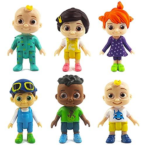 BESTZY Cocomelon Figuras en Miniatura 6PCS Cocomelon Figure Toy Entre Nosotros Juguetes...