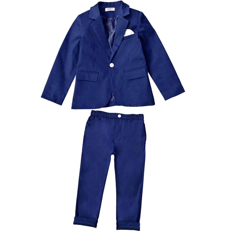 XFentech 男の子 結婚式 フォーマルスーツ - ボーイズ 紳士服 子供服 発表会 入学式 卒業式 スーツ 洋服 ジャケット パンツ/シャツ スーツ,