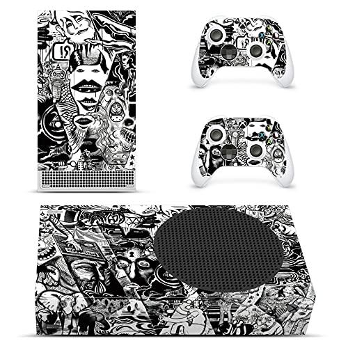 AXDNH Xbox Series X Graffiti-Aufkleber, Ganzkörper-Aufkleber, PVC, selbstklebend, für Microsoft Xbox Serie X Konsole und 2 Controller, Schwarz