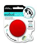 DOTZ EBW33M-CR-I - Enrollador de cable para auriculares, color rojo