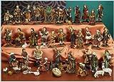Natale Presepe natività composto da 47 statue in resina decorata alte fino a 11 cm