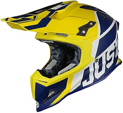 JUST1 J12 Unit Carbon Fiber Shell Off-Road Adult Motorcross Motorcycle helmet Flat Black Trans, Carbon Unit Rockstar-Large