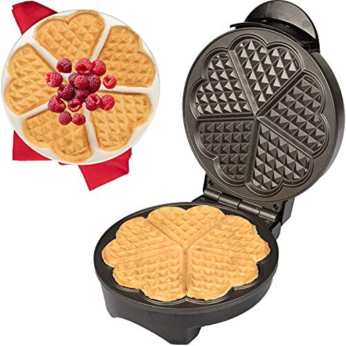 Heart Waffle Maker - Non-Stick Waffle Griddle Iron...