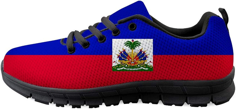 Owaheson Lace-up Sneaker Training shoes Mens Womens Haiti Flag
