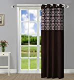 Home Candy Dual Panel Brown Door Curtain
