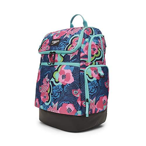 Speedo Large Teamster 2.0 Backpack 35-Liter, Blue/Pink, One Size