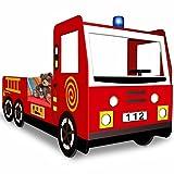 Feuerwehrbett inkl. Lattenrost - Autobett Kinderbett
