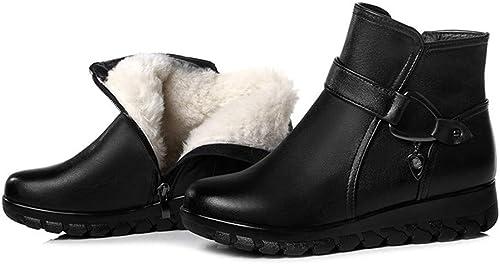 YKFCHDX Wohommes Snow bottes Warmth Winter Fashion noir,noir,Thirty-Eight